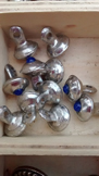 blue stone pewter buttons