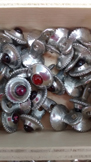 pink stone pewter buttons